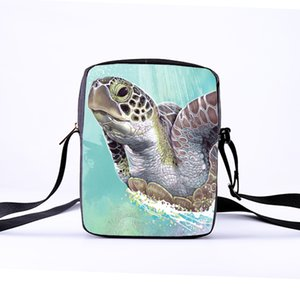 Wholesale Women Messenger Bags 23x17x5cm 3d-denim Animal Shoulder Bag Handbags Sea Turtles Messenger Bag Children Crossbody Bag