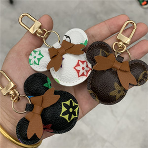 Wholesale car accessories for girls for sale - Group buy Mouse Design Car Keychain Flower Bag Pendant Charm Jewelry Keyring Holder for Women Men Gift Fashion PU Leather Animal Key Chain Accessories