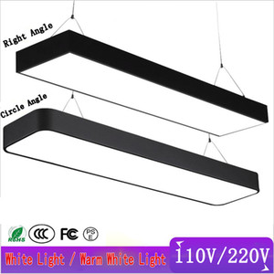 Office chandelier lighting 110V 220V LED Office Droplight Gymnasium Strip Hanging Wire Lamps Studio Square modern led ceiling lights