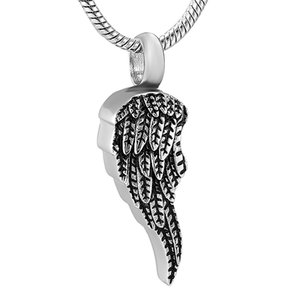 Wholesale stainless steel angels jewelry resale online - Angel Wings Gold Stainless Steel Cremation Jewelry for Ashes Urn Cinderella Keepsake Memorial City Necklace Pendant IJD11729