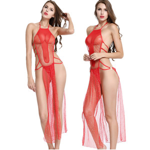 Wholesale Slips intimates women underwear Sexy lingerie Backless dress split nightclub performance clothing sexy costumes sex products D18120802
