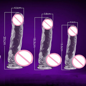 Wholesale realistic dildo suction cup waterproof penis resale online - Big Dildos for Women Realistic Crystal Dildo Anal Silicone Penis Artificial Waterproof Dick Suction Cup Dildo Adult Sex Toys Y200410
