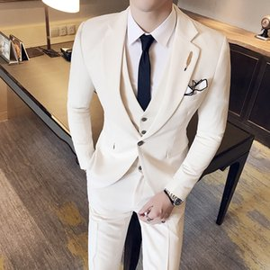 Wholesale Costumes Hommes British Style Slim piece Men Single breasted Business Professional Wear Groomsman Dress