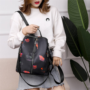 Wholesale Ins Fashion Tote Bag Female High quality Floral Designer Polyester Oxford Handbags Women Mens Travel Bags shoulder Cross body Backpack