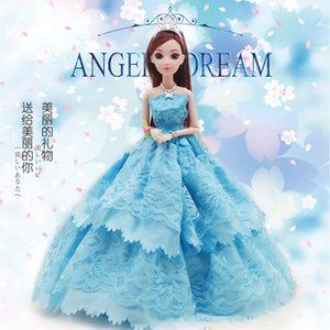 Wholesale High Archives Wedding Dress Lillian Barbie Doll Wedding Dress Princess Suit Girl Princess Facelift Wedding Dress Bride Gift Box A Doll