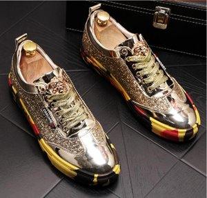 Wholesale High quality fashionable men s senior British style tiger head Rivet luxury shoes for men s outdoor casual shoes a49