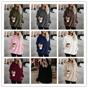 5XL Fashion Loose Coat Autumn Hooded Jacket Long Sleeve Wool Overcoat Winter Warm Hoodie Free Shipping Woolen Sweater on Sale