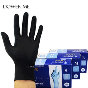 Wholesale High Quality Black Disposable Latex Gloves Tattoo Body Art Accessories Latex Tattoo Gloves Disposable