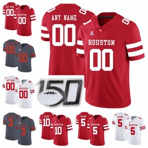 steven oro al por mayor-Houston Cougars College Football Jerseys Steven Dunbar Jersey Raelon Singleton Terence Williams DJ Hayden Andre Ware Custom Steinsted