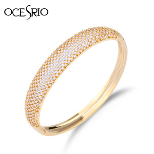 Ocesrio Designer Brand Luxury Gold Bangle Dubai Wedding Cuff Bangles Bracelets Small Gifts For Women Brt-a56 C19041302