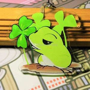 Travel frog Keychain Pendant toys cartoon Travel frog Action Figures frog key ring 5 styles Kids Jewelry C3631