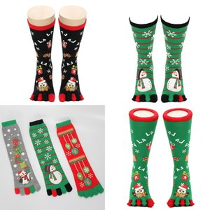 Wholesale Christmas Gift Five Fingered Socks Sweat Absorption Friction Prevention Man And Women Cartoon Snowman Santa Clause Stocking rh Ww