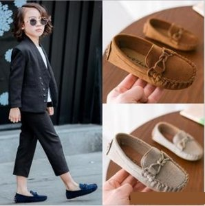 Wholesale Kids Moccasin Loafers Shoes Boys Fashion Sneakers Children Massage Casual Shoes Kids Girls Flat Leather Shoes Size