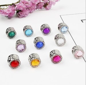 Wholesale Colorful Cat Eye Zircon Cut Surface Crystal Big Hole Beads DIY Alloy Bracelet Accessories Female Beaded Necklace Accessories