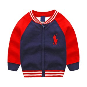 Wholesale New Children s Top Clothes Cotton Baby Sweater High Quality Kids Outerwear Girl Sweater Boy Sweater V neck Sweaters coat