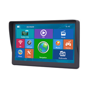 New Auto Car 7 Inch GPS Navigator Bluetooth Truck Sat Nav With Sunshade Shield 8GB 256MB FM AVIN Navigation Free Maps Updates