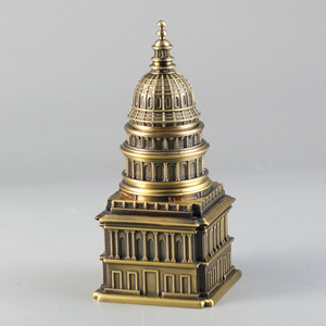 Metal Toothpick Holder Toothpick Boxes White House Clock Tower Church Design Ornaments Antique Building Statue