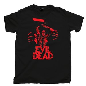 Evil Dead T Shirt Bruce Campbell Boomstick Chainsaw Evil Dead Deadites Tee Cool Casual Sleeves Cotton T-Shirt Fashion