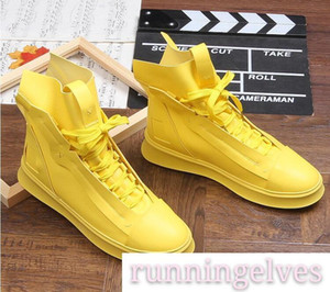 2019 Streets Trendy Men S Designer Shoes High Tops Zipper Platform Casual Flats Lace-up Shoes Male Dress Wedding Prom Shoes