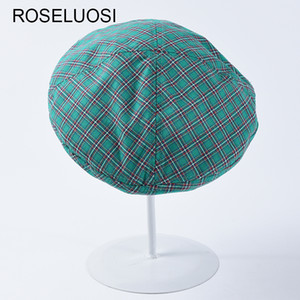 Wholesale Women Casual Plaid Berets Hat Spring Summer New Fashion Beret Hats Bonia Femme Gorras Mujer