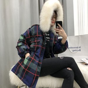 Wholesale Parkas Fur Collar Hooded White Duck Down Winter Coat women s jacket with hood Thicken Warm women s down chaqueta mujer YRF06