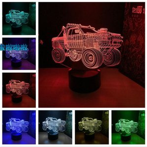 Wholesale Suv D Lamp Color Cool Off road Vehicle Led Night Lamps For Man Boys Kids Touch Led Usb Table Lampara Lampe Baby Sleeping Decor Toys Gifts