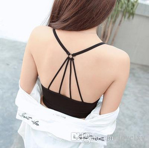 Wholesale Sports bra with chest pad straps tube top vest wrapped chest student underwear female anti light movement no steel ring chest IGU24
