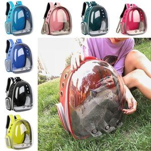Pet Transparent Backpack Pet Dog Cat Carrying Outdoor Bags Puppy Cat Bag Pet Transparent Space Backpack on Sale