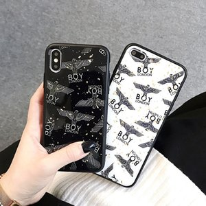 Wholesale Popular Brand Designer Phone Cases For iPhone Xs MAX Xr s Plus Case Boy Glass Phone Case Cover Factory Outlet