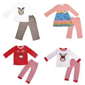 Wholesale Girls Clothing Set Printed Cartoon Christmas Tops Pants Two-Piece Sets Baby Girl Clothes Baby Girl Designer Clothes 07