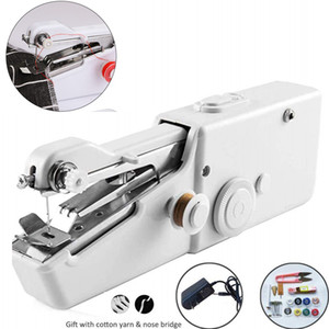Portable Mini Hand Sewing Machine Household Cordless Electric Stitch Needlework Set for Quick Repairs DIY Clothes Stitchin