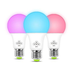 Wholesale Home Smart WiFi Light Bulb 4.5W RGB Magic Wake-Up Lights Compatible with Alexa and Google Led Light Bulb Cellphone Control Color Tunable