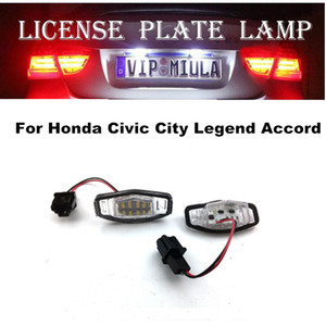 Wholesale License Plate LED Lamp For Honda Civic City D Legend Accord White Color LED Light Auto Accessories For Honda
