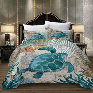Wholesale Thumbedding Animal Bedding Set King Size Tortoise Duvet Cover D Twin Full Queen Single Double Sea Decorative Bed Cover With Pillowcase