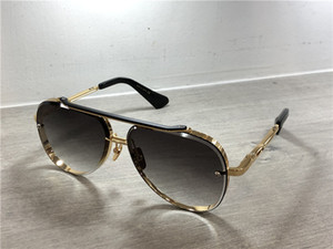 Wholesale Gold Black Pilot Sunglasses Grey Blue Shaded Lens Sun Glasses Mens Luxury Designer Sunglasses Shades with box