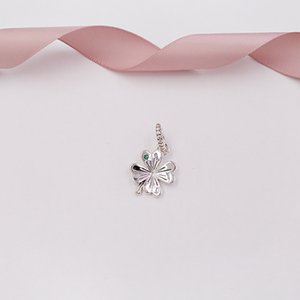 Wholesale pandora leaf clover for sale - Group buy quot Authentic Sterling Silver Beads Nag Charms Fits European Pandora Style Jewelry Bracelets Necklace Lucky Four Leaf Clover Pendan