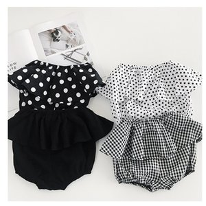 Wholesale Baby Girls PP Shorts Fashion Plaid Flower Polka Dots Printed Ruffle Children Hot Pants Korean Summer Kids Shorts wt1765