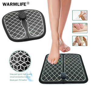 Wholesale Electric EMS Foot Massager ABS Physiotherapy Revitalizing Pedicure Tens Foot Vibrator Wireless Feet Muscle Stimulator Unisex
