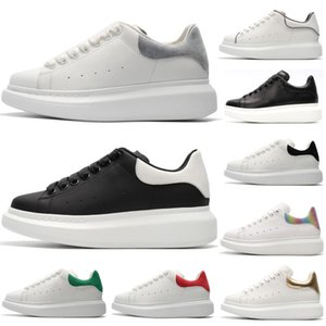 Wholesale 2019 Cheap Luxury Designer Men Casual Shoes Green Suede White Gold Top Quality Mens Womens Trainers Party Platform Shoes Fashion Sneakers