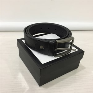 Wholesale belt designer belts mens designer belts leather business belt buckles luxury belts black strap big gold buckle womens belt gift with box