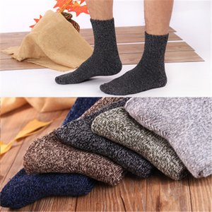 Wholesale Men S Thick Cotton Socks Special Winter Thick Warm Socks High Quality Winter Mens Harajuku Retro Warm Wool Dress Socks Pairs