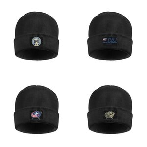 Men Womens Columbus Blue Jackets Hockey TEAM Stretchy Wool Cap Knit LOGO ice hockey Camouflage series usa flag green