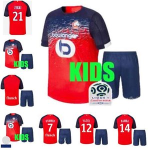 LOSC Lille Soccer Jersey Tshirt 2019 20 OSIMHEN Home Football Shirt BAMBA T-shirt R. SANCHES Kids Kits Shirts Camisa Camiseta Maillot on Sale