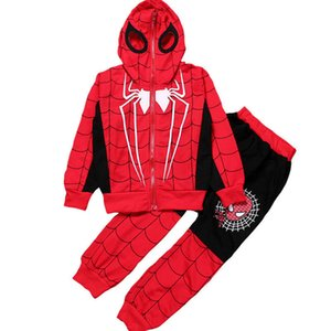 Wholesale 3 y Spiderman Baby Boys Clothing Sets Cotton Sport Suit Children Fashion Cool Spider Man Cosplay Costume Kids Tracksuit Clothes J190716