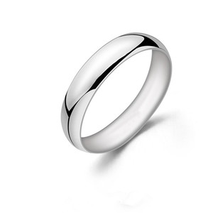 Wholesale 5 mm Solid 925 Sterling Silver Ring for Female & Male High Quality White Gold Color Anniversary Birthday gift