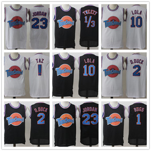 Space Jam Jersey Men's Movie Tune Squad 1 Bugs Bunny 2 Daffy Duck 1 3 Tweety 10 Lola Bunny TAZ Basketball Jerseys Stitched on Sale