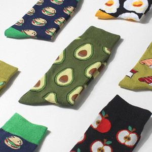 Cartoon Fruit Food Print Socks Stockings Cotton Socks Hosiery for Women Men Gift Drop ship 010112