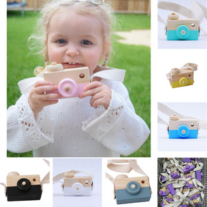 Wholesale Kids Toys Wooden Camera Baby Kids Hanging Camera Photography Prop Handmade Creative Photo Decoration Birthday Christmas Gifts JY127