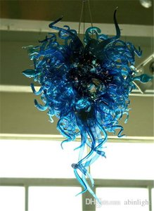 lustre azul antigo venda por atacado-Antique Murano Vidro Lustres Fantasia Cor Azul vidro fundido Custom Made Bedroom Decor Chandelier Luz