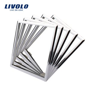 Wholesale Livolo EU Standard Socket Accessory Decorative Frame For Socket One pack Silver White Black Color